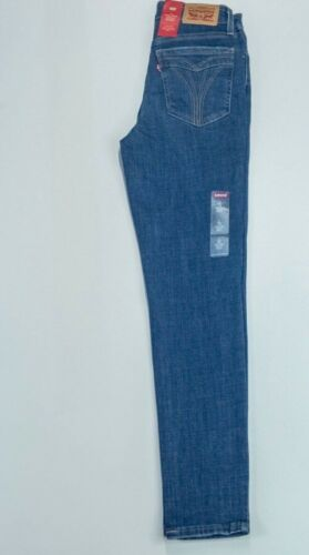Levi's Ladies 721 High Rise Ankle Skinny Blue Ripped Jeans