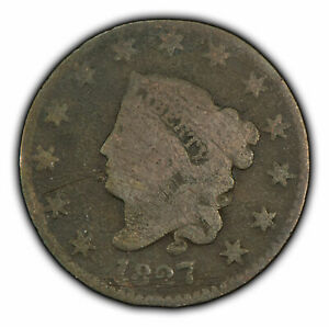 1827 1c Coronet Head Large Cent - Better Date - SKU-Y2367