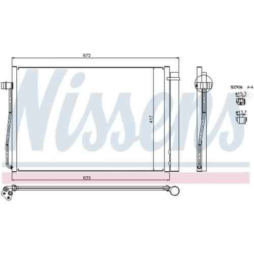 Condensateur Climatisation Climatique Condensateur climat Radiateur NISSENS 94679