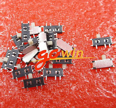 20PCS Slide Power Off//On Panel PCB MINI SMD Switch,SPM