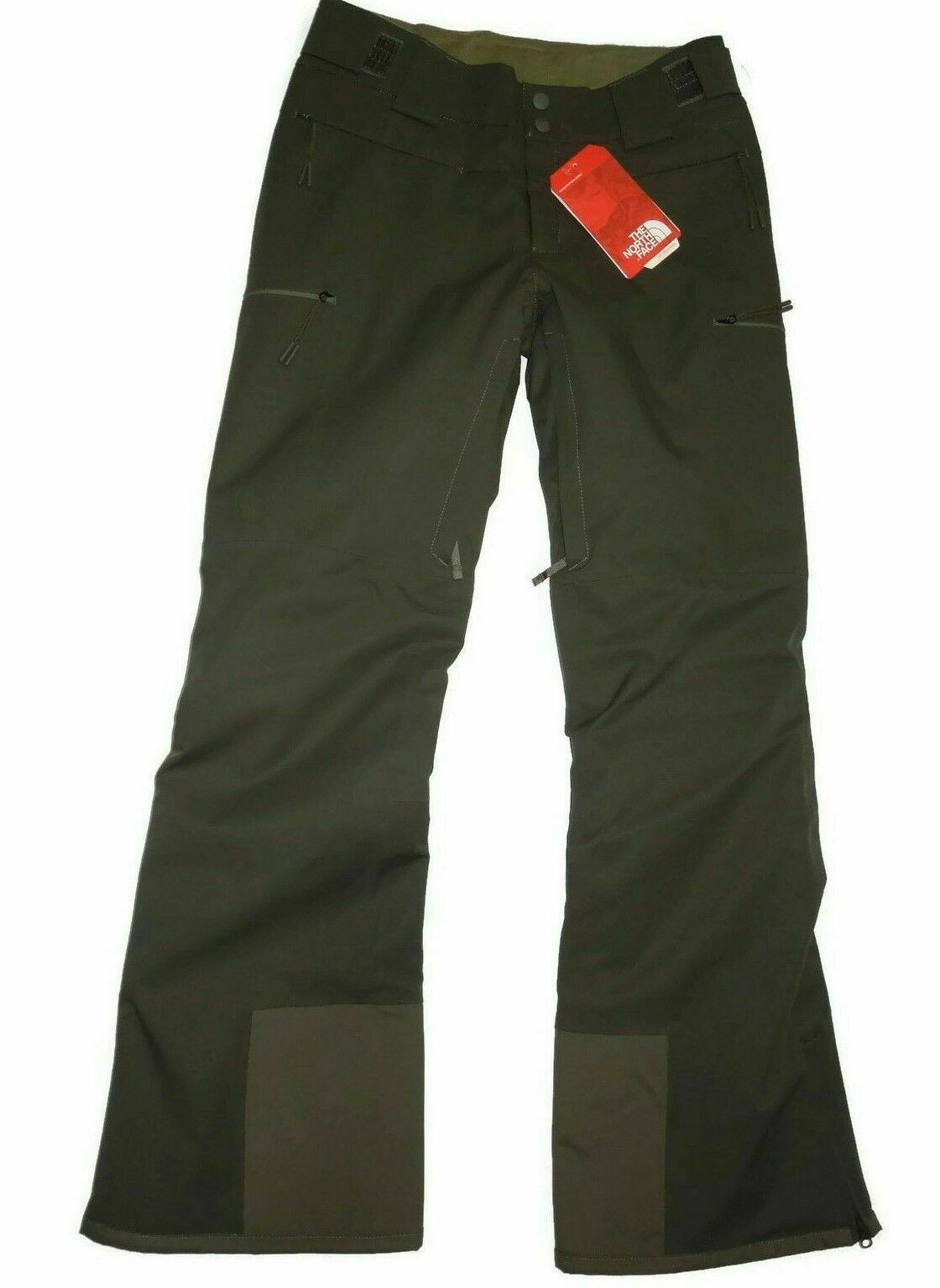 The North Face Womens Powdance Insulated Ski Snow Winter Pants SMALL Green