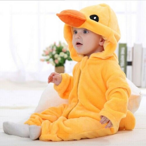 Baby Animal Crawling One Piece Pajamas Winter Warm Birthday Happy Party Dress Up