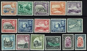 Cyprus-SG-151-163-Mint-Hinged-LH-Missing-1951-Issues-Lot-062616