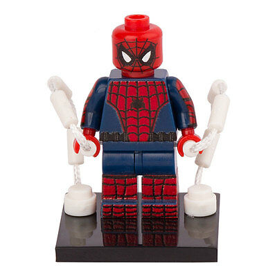 1Pc Spiderman Minifigures Building Block Gift Toy Avengers For Kids Lego
