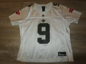 separation shoes c9f30 e0d29 Details about Drew Brees #9 New Orleans Saints Super Bowl Reebok NFL Jersey  Womens XL