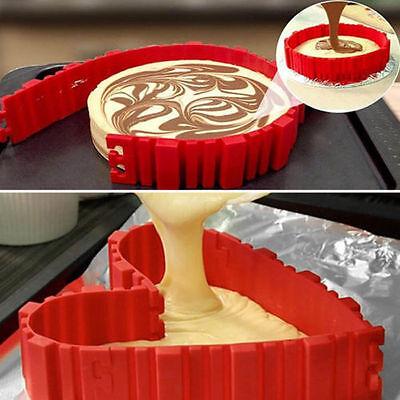 4Pcs Silicone Bake Snake Cake Mold Mould Nonstick Magic DIY Bakeware Baking Tool