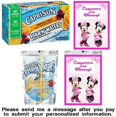 Minnie Birthday Party Minnie Birthday Minnie Mouse Birthday Party Juice Labels Minnie and Micky Mouse