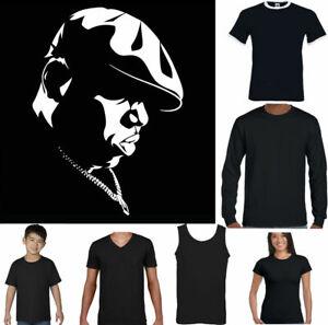 TUPAC 2PAC Hip Hop Rap BIG Unisex T BIGGIE SMALLS T-SHIRT Mens Notorious B.I.G