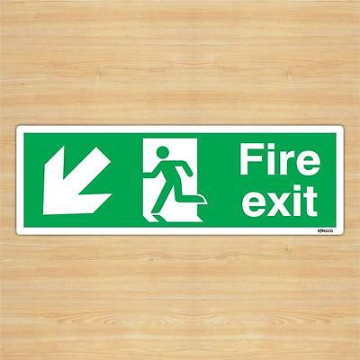 Emergency Fire Exit Sign Sticker Sheet-Self Adhesive Arrow Left