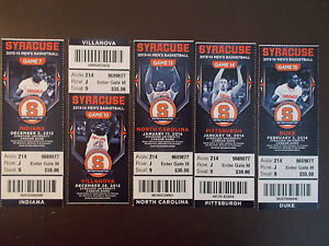 Syracuse Orange 2013 14 Ncaa Basketball Ticket Stubs One Ticket Ebay