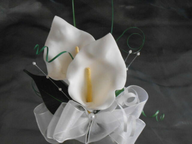 wedding flowers cake topper lilly white artificial