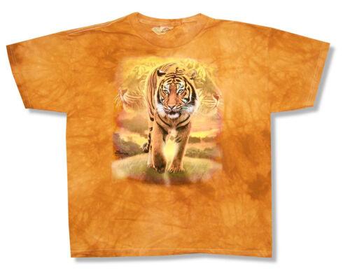 Mountain Bengal Tiger Kids Youth Orange Tie Dye T Shirt New Official Big Cat