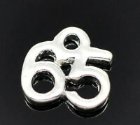 5 x Tibetan Silver 65 th Birthday Charms Pendants Necklace Jewellery Gift Q160