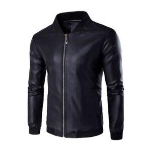 Mens-Biker-Jacket-Coats-Slim-Casual-Motorcycle-Zip-Up-Outwear-Bomber-Jackets-Top