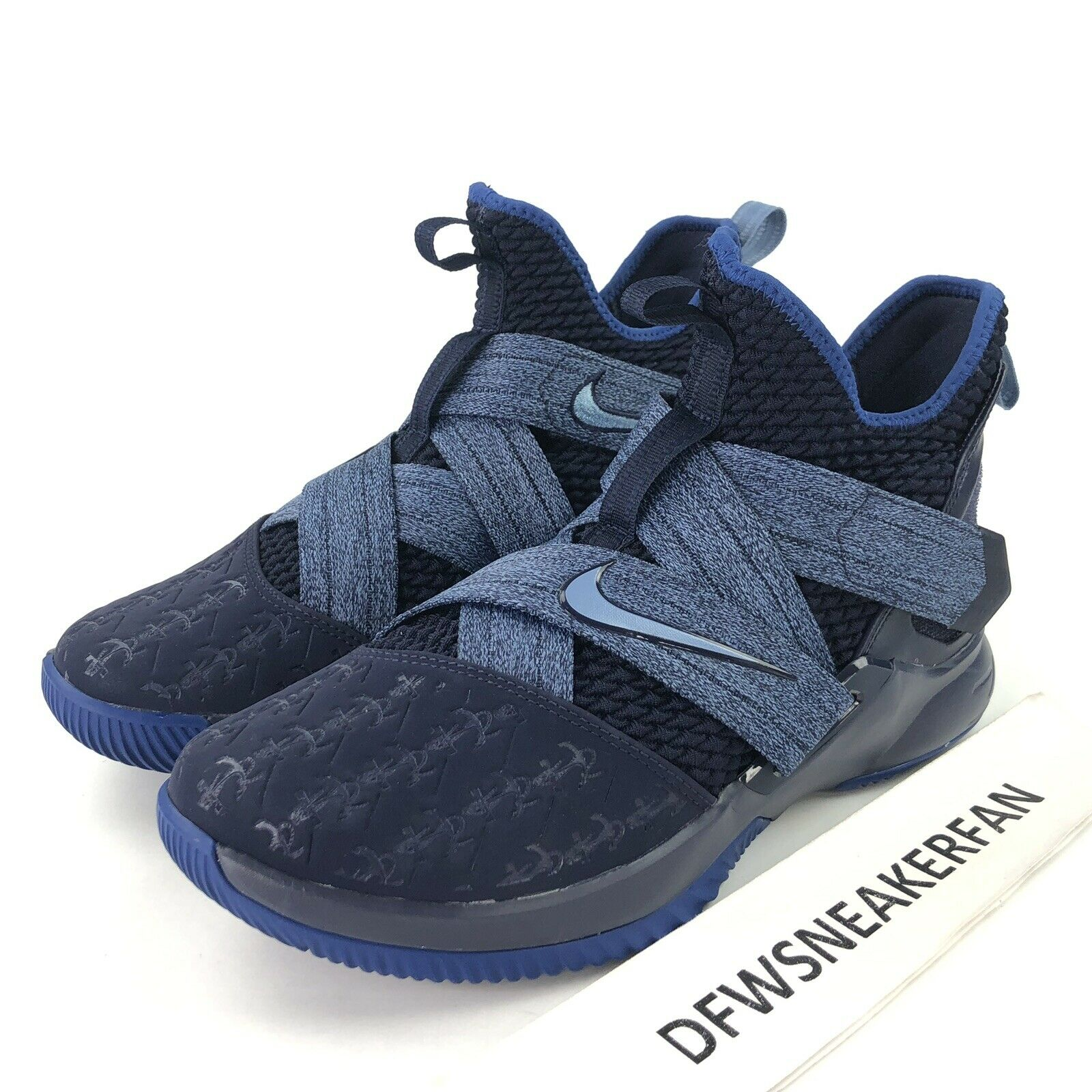Nike LeBron Soldier 12 Anchor Men's Size 9 bluee Basketball shoes AO2609-401 New