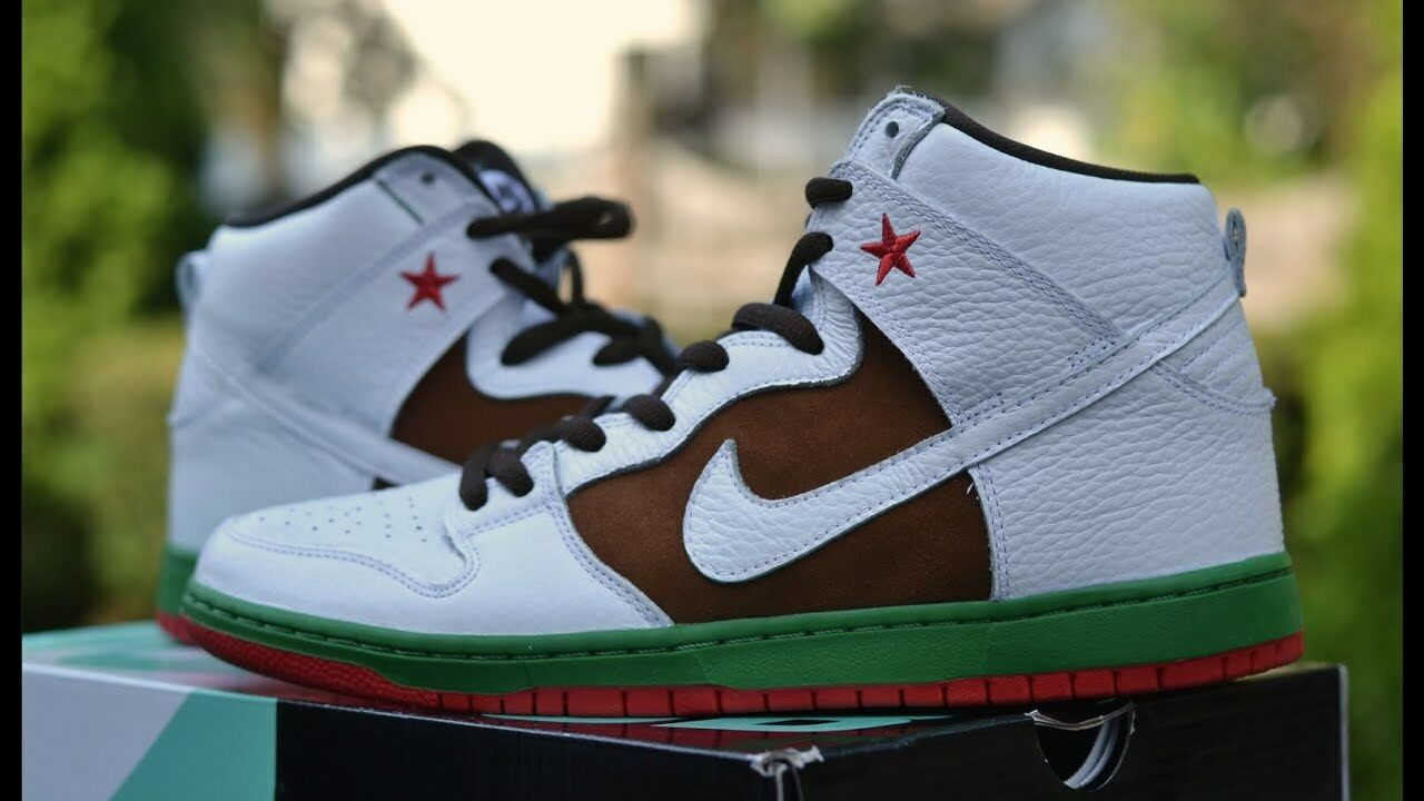 NIKE CALIFORNIA DUNK HIGH LIMITED EDITION QUICK STRIKE STAR STATE WEST COAST QS