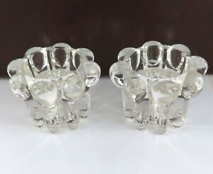 QUALITY-MATCHING-PAIR-SIGNED-REIMS-FRANCE-HEAVY-SET-GLASS-CANDLESTICK-HOLDERS