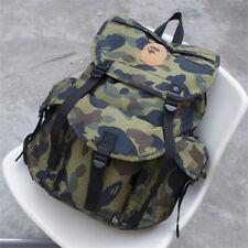 A Bathing Ape Bape Black School Travel Sport Gym Rucksack Backpack Bag Storage