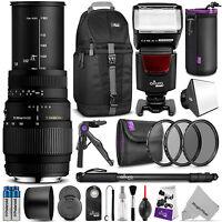 Sigma 70-300mm F/4-5.6 Dg Macro Lens Kit For Nikon D5300 D5200 D5100 D3200 D3100 on sale