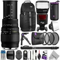 Sigma 70-300mm F/4-5.6 Dg Macro Lens Kit For Nikon D5300 D5200 D5100 D3200 D3100 on sale