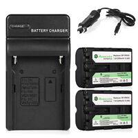 2 Pcs Np-fm500h Battery + Charger For Sony Alpha Slt A57 A58 A77 A99 A550 A850