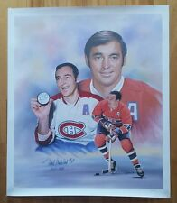 Frank Mahovlich Autographed hand signed Litho 24x28 canvas Montreal Canadiens