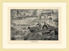 Acqua selvatici nella Sarntal Tirolo dipinti di Claus montagne legno chiave II 146