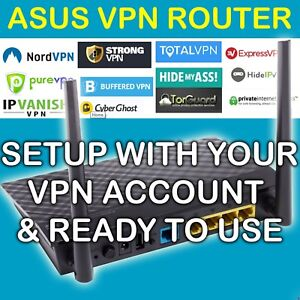 Details about ⭐ ASUS VPN ROUTER PROTECT YOUR PRIVACY & MAG LIKE DDWRT FREE  NORDVPN SETUP