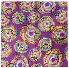 "Green Swirl Tye Dye Paisley 100/% Cotton Bandana 22/""x22/"" Pink"