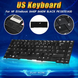 US-Keyboard-Replace-For-HP-EliteBook-8440P-8440W-PK1307E1A00-Laptop-Notebook-PC