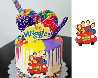 Astounding Wiggles Pre Cut Edible Real Icing Image Cake Topper Birthday Party Birthday Cards Printable Opercafe Filternl