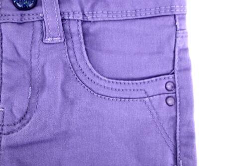 URBAN Star Ragazze Ritagliata Capri Pantaloni Stretch Soft regolabile in vita viola