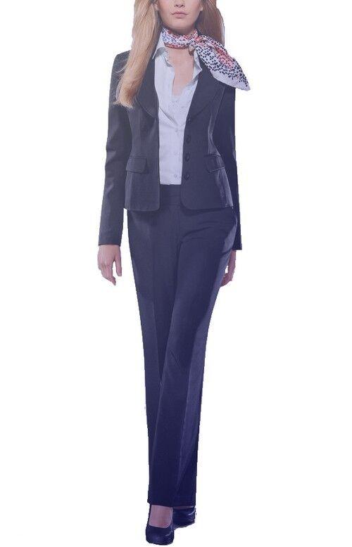 2tlg. Tailleur-pantalon Neuf Taille 34,36,44 Best Connection Bleu Femmes Costume Blazer Pantalon Bc