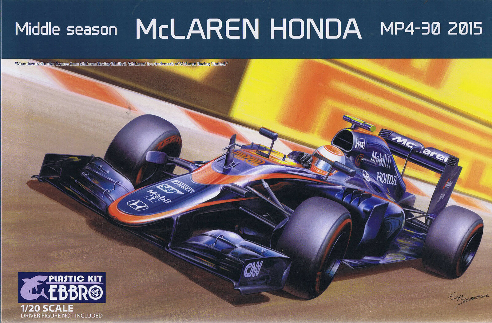 Ebbro 1 20 Middle Season McLaren Honda MP4-30 2015 Plastic Model Kit
