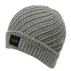 MENS GREY MARL FIRETRAP CABLE DOCK HAT KNIT KNITTED BEANIE PREMIUM ... 737219b7413