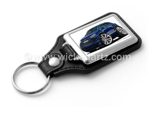 WickedKarz Cartoon Car Volkswagen VW Touareg SUV in Blue Stylish Key Ring