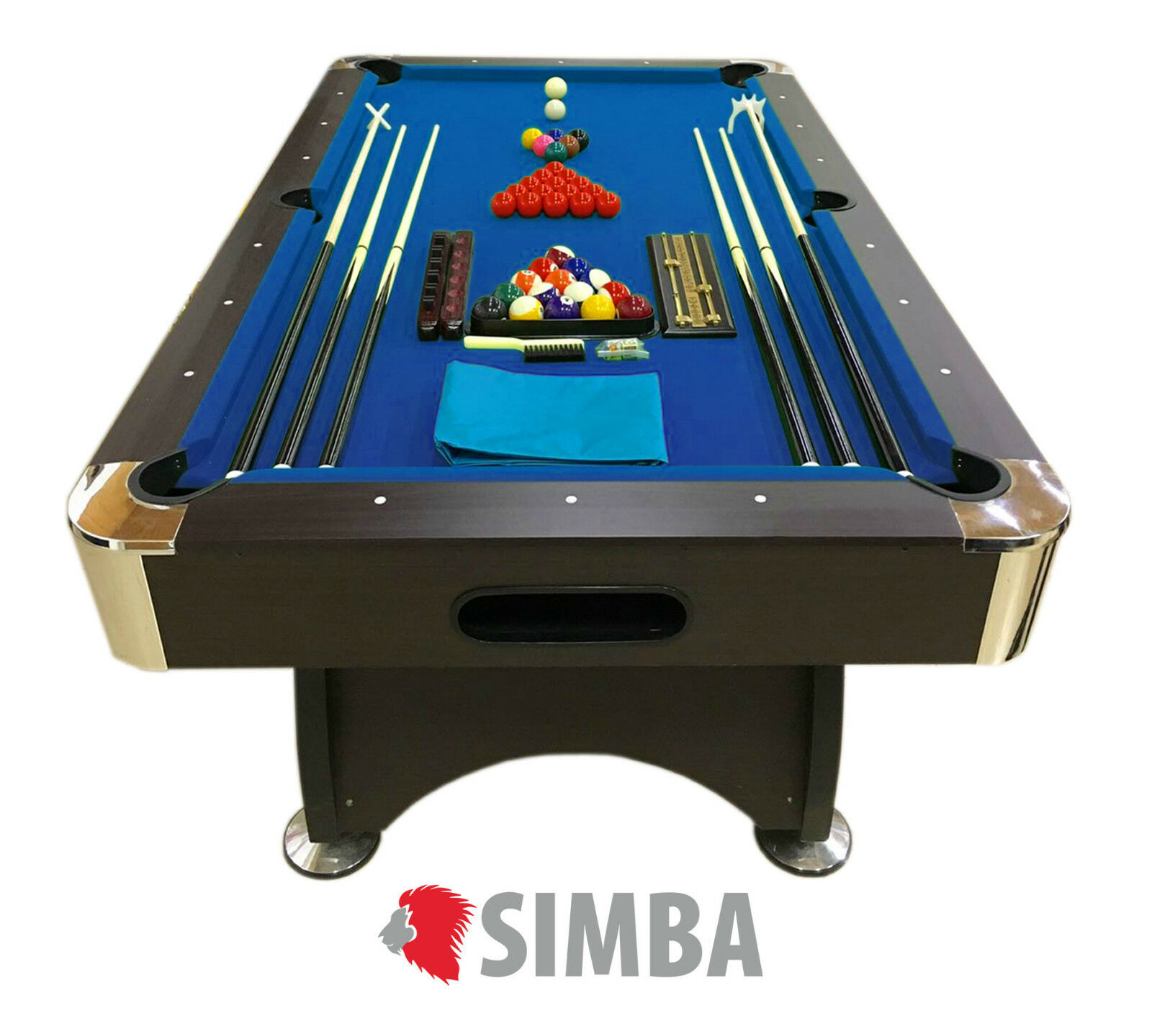 MESA BILLAR 7ft AMERICANO ASAS TAPIZADO bleu 188 x 96 Mod. bleu Sea FULL juego