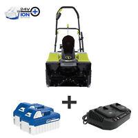 Deals on Snow Joe 48-Volt Cordless Snow Blower 24V-X2-SB18-SJG