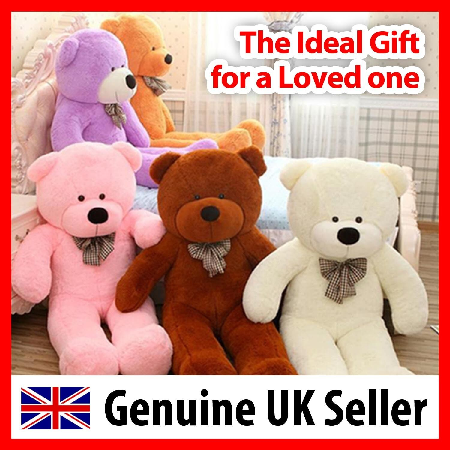 Christmas SALE Giant 6 foot teddy bear 180cm plush Present genuine UK Seller
