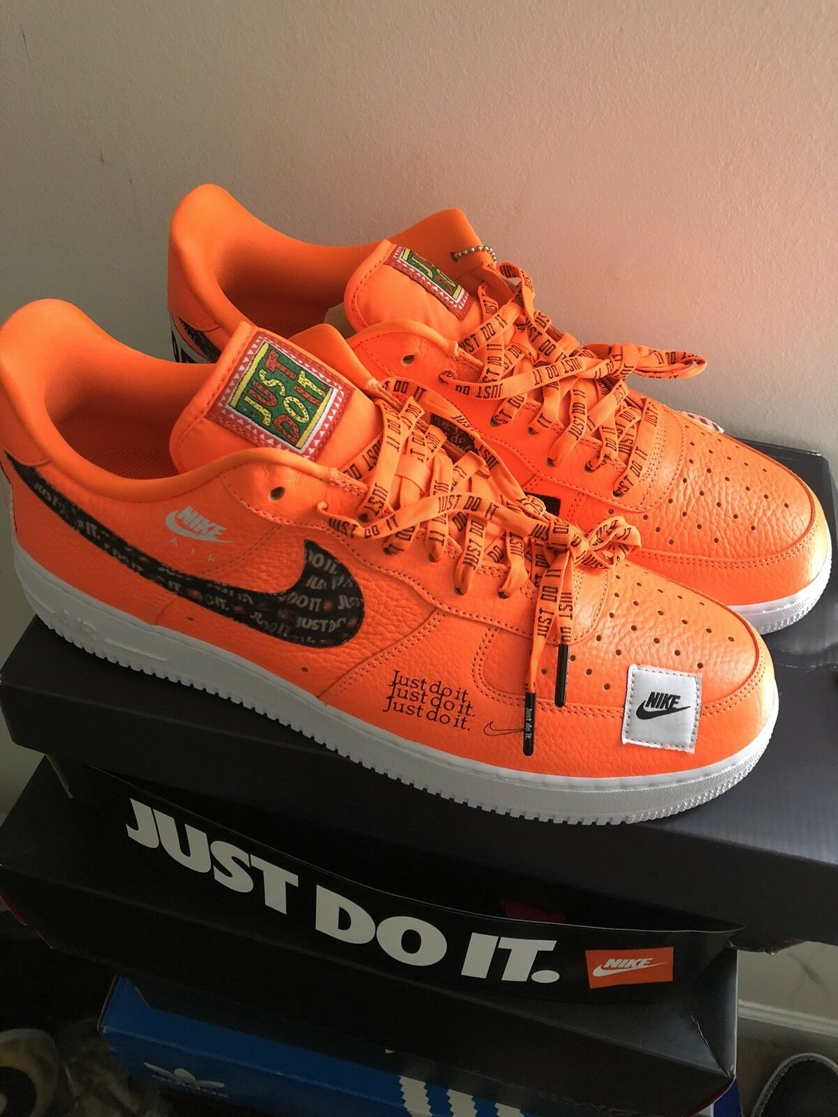 Nike Air Force  1 JDI (Just Do It) Collection Orange size 13