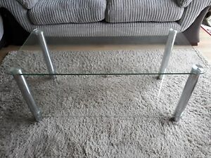 Details About Argos Home Matrix Coffee Table Chrome And Glass