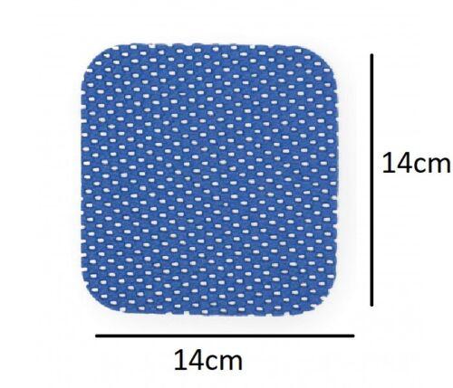 Lot de 4 poignée antidérapante tapis 14x14cm Multi usage Anti Dérapante Cuisine Tiroir Table UK