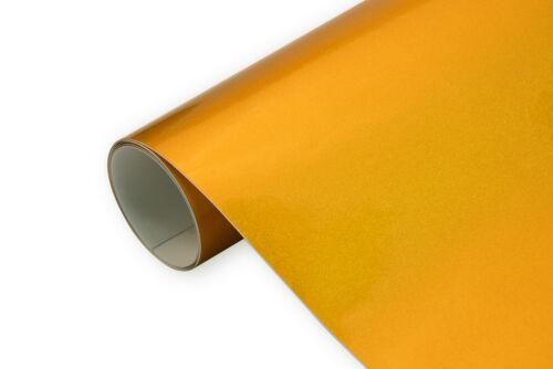 36 €//m² 3d voiture Film Brillant Metallic Gold 50 x152 cm brillance bulles mouvement