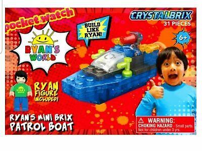 Ryans World Ryans Mini Brix Patrol Boat 31 Pieces NEW