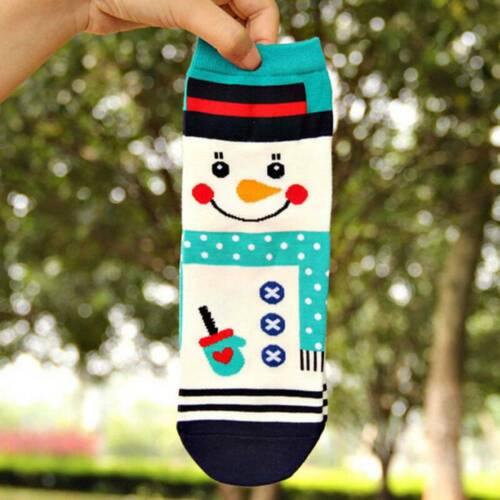 Women Men Cute Christmas Socks Santa Claus Snowman Funny Cotton Socks Xmas Gift