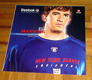 the best attitude 1e75b 7206a Details about NY GIANTS ELI MANNING REEBOK PROMO NYC SUBWAY POSTER