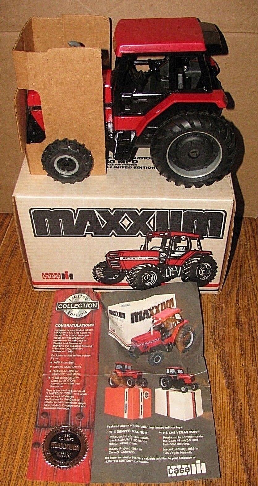 Case IH Internacional 5130 MFD Maxxum Tractor Ertl Juguete Kansas City 1989 Ltd Ed