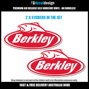 Berkley-Fishing-Decals-2x-Large-30cm-Wide-stickers-for-boat-tackle-box-tinnie
