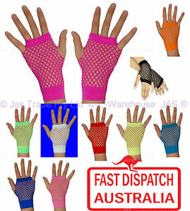 Punk-Goth-80-039-s-80s-Costume-Party-Lace-Fingerless-Fishnet-Dance-Disco-Cuff-glove