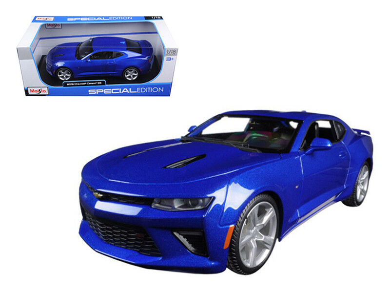 Maisto 1 18 2016 Chevrolet Camaro SS Diecast Model Car bluee (31689)